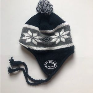 Penn State Knit Hat with ear flaps One Size
